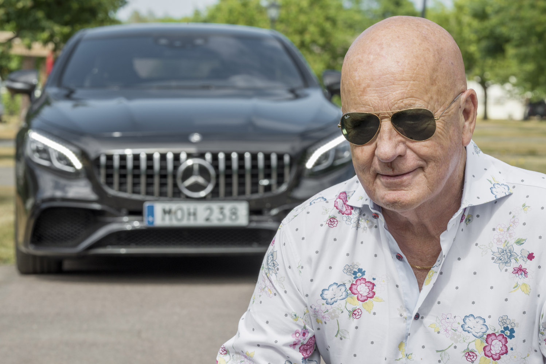 Ulf Davidson i Danderyd med sin 35:e Mercedes-Benz.