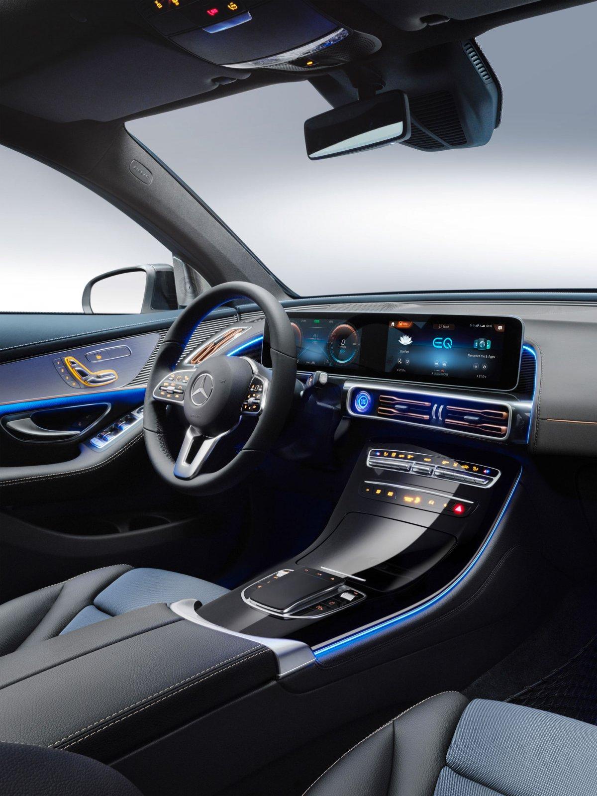 Den första helelektriska bilen i Mercedes-Benz, EQC.