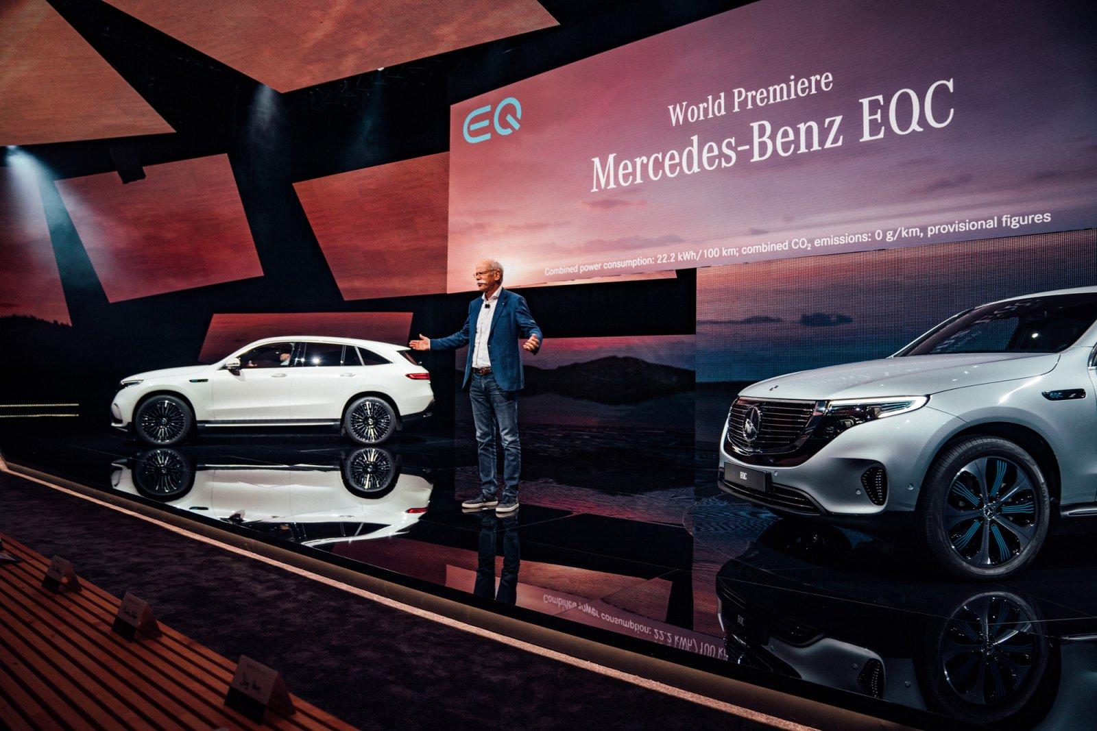 Daimlers koncernchef Dieter Zetsche presenterar nya EQC för världspressen på Artipelag på Värmdö.