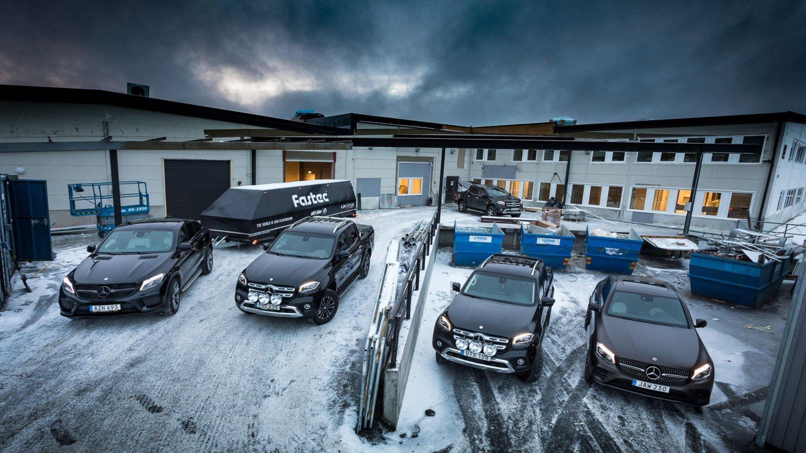 På Fastec i Östersund har man valt att köra Mercedes-Benz. Både som tjänstebil och transportbil.