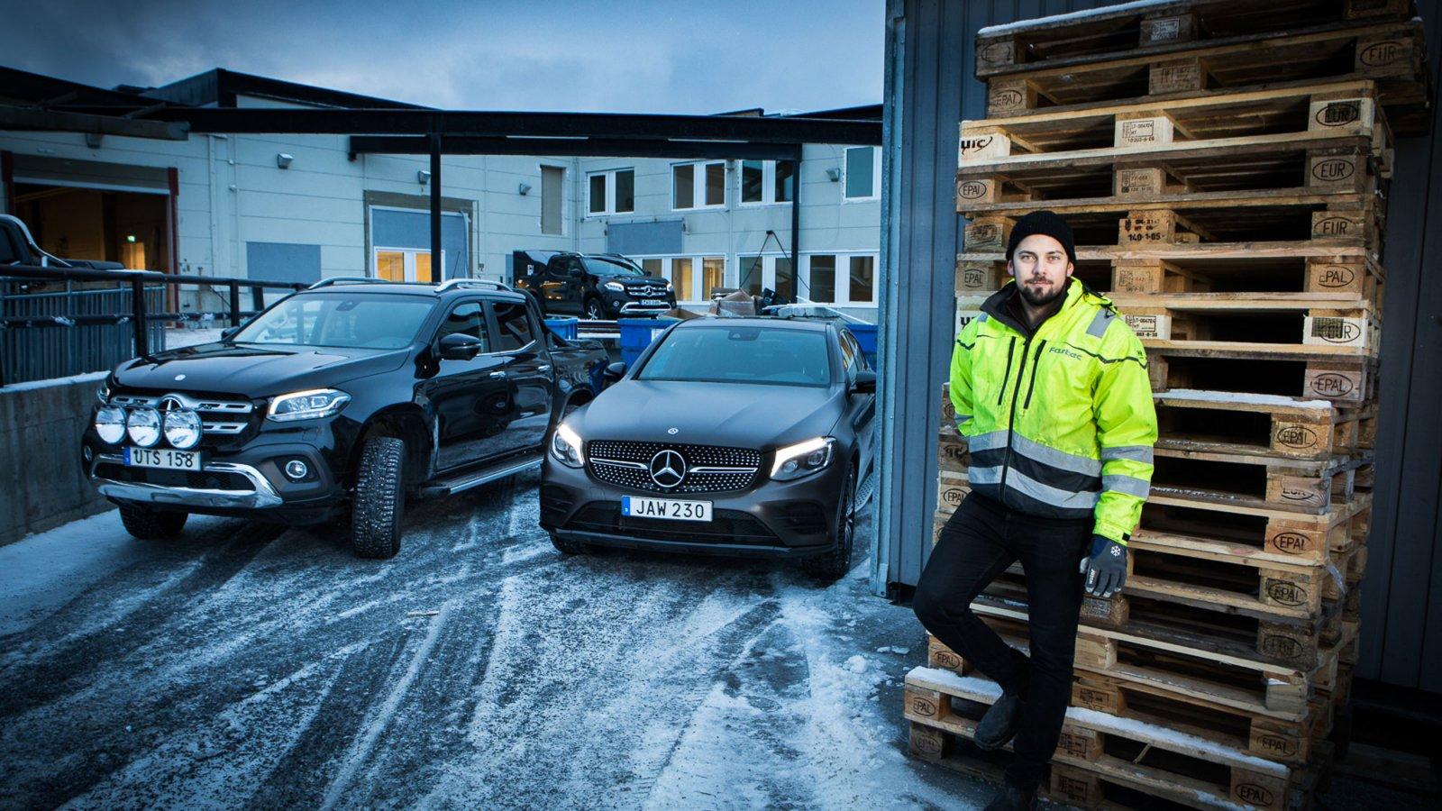 Rasmus Sandström har arbetat på Fastec sedan företaget startade 2010. Det var samma år som han gick ut bygg-gymnasiet i Östersund.