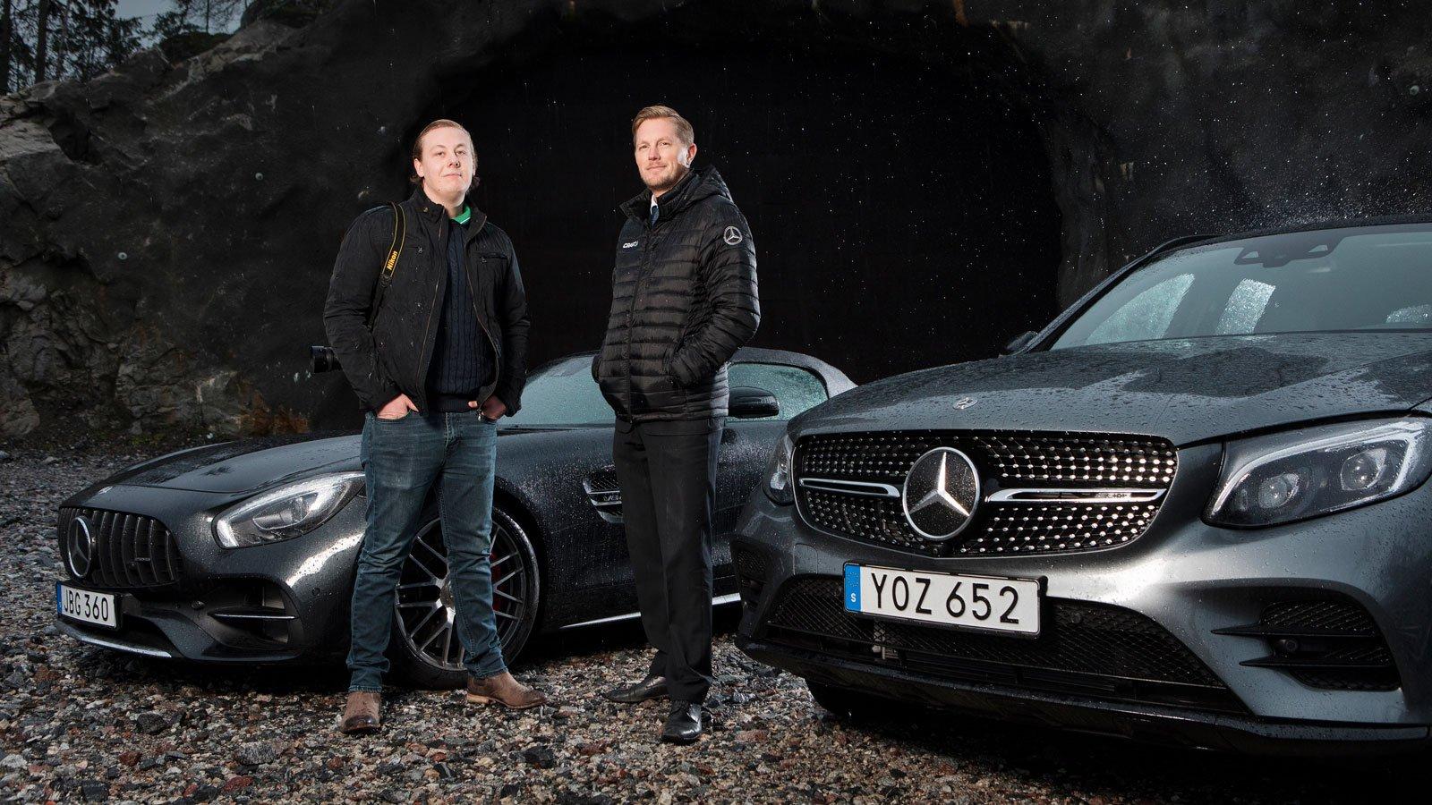 Oscars och Martin Stieberth, som är administratör på AMG Club Swedens grupp på Facebook och som också är AMG-säljare på Mercedes-Benz i Danderyd.