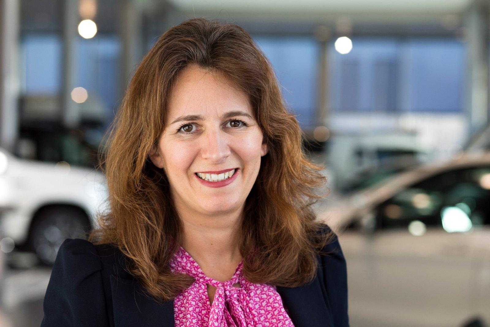 Karin Stålhandske, märkeschef för Mercedes-Benz på Upplands Motor i Stockholm.