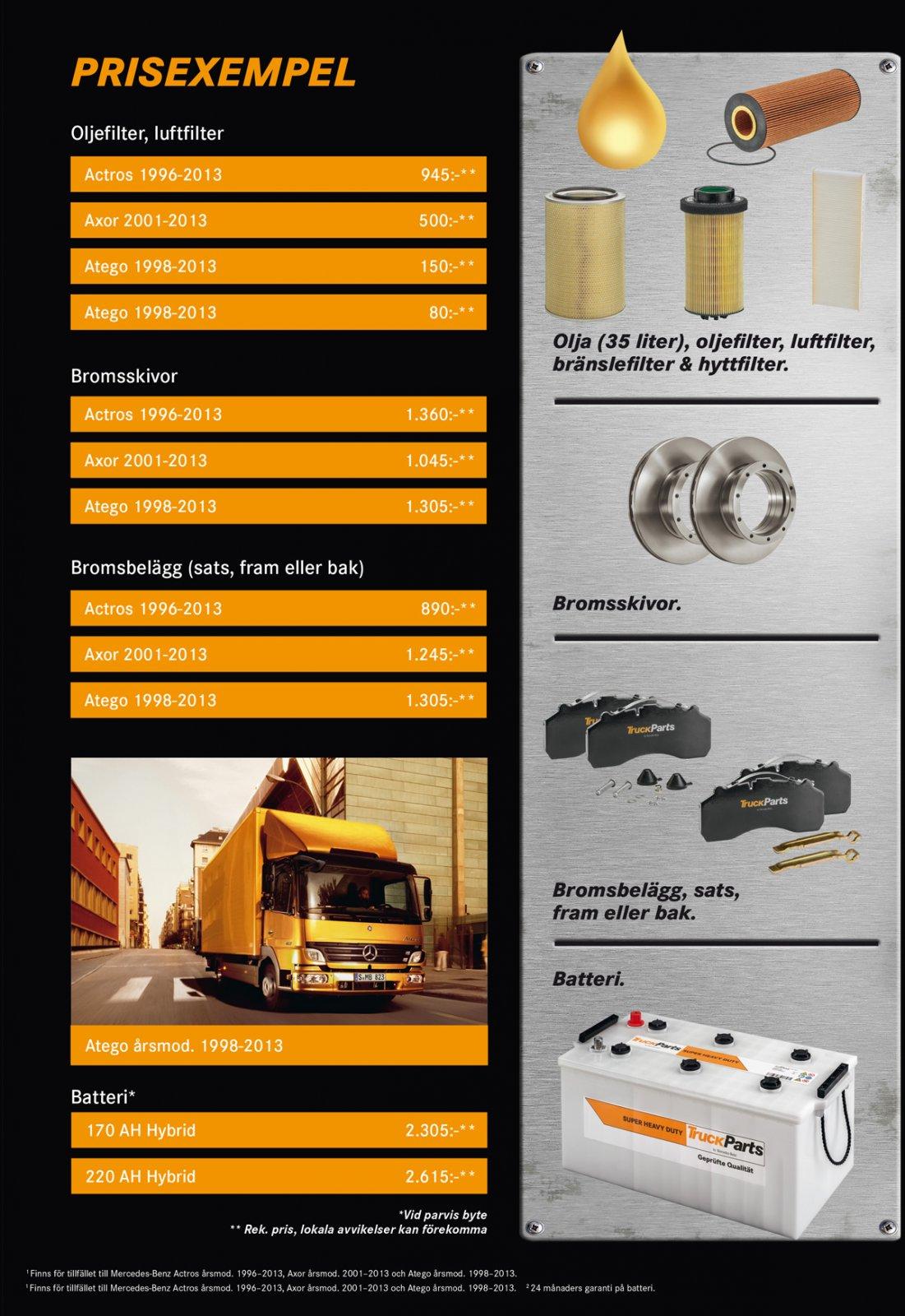 truckparts-priser