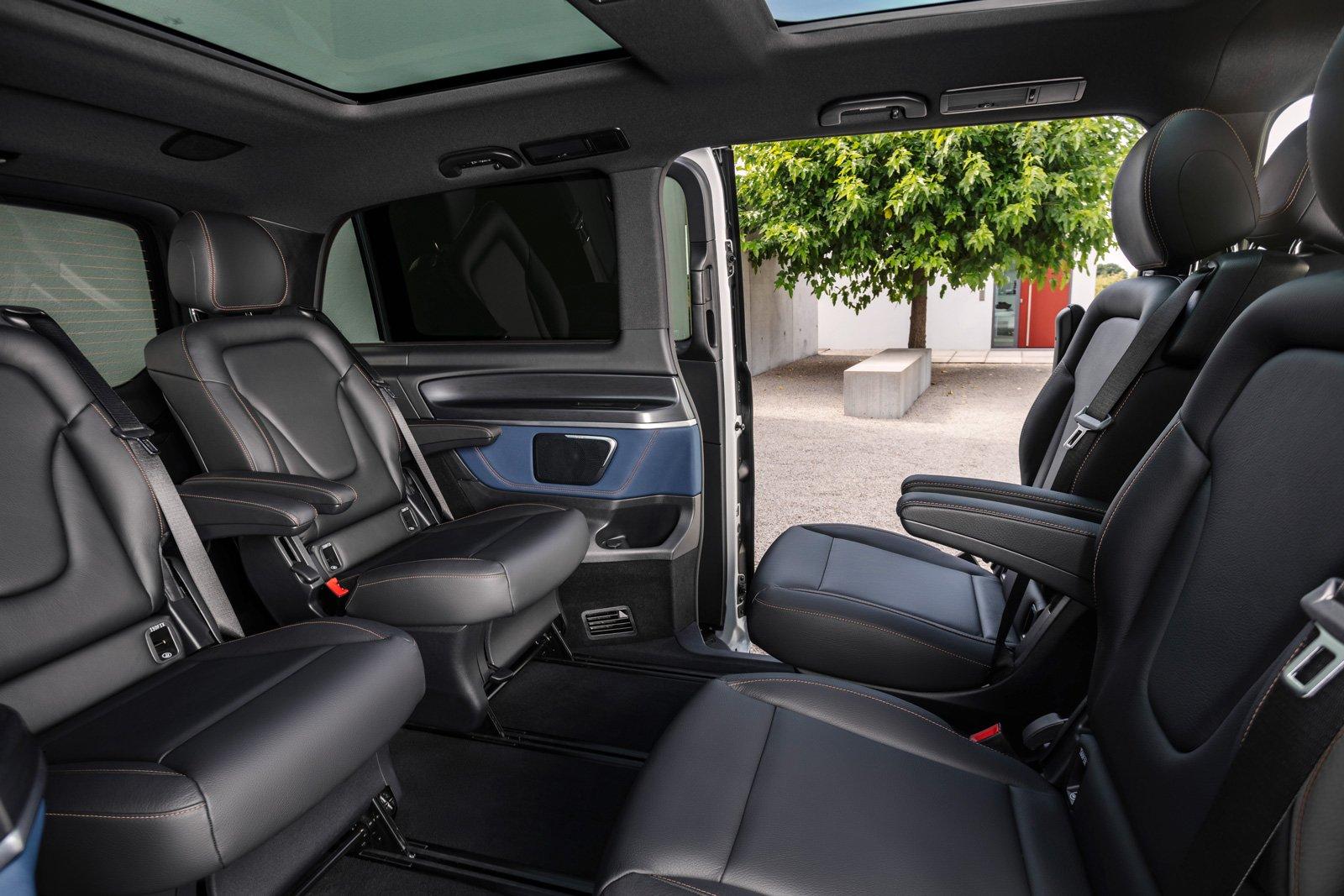 Mercedes-Benz EQV, interior.