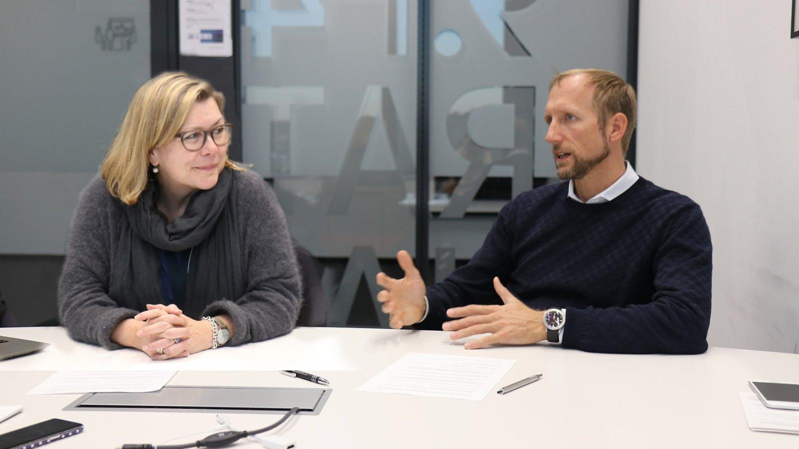 Marianne Reeb och Helge Janzon.
