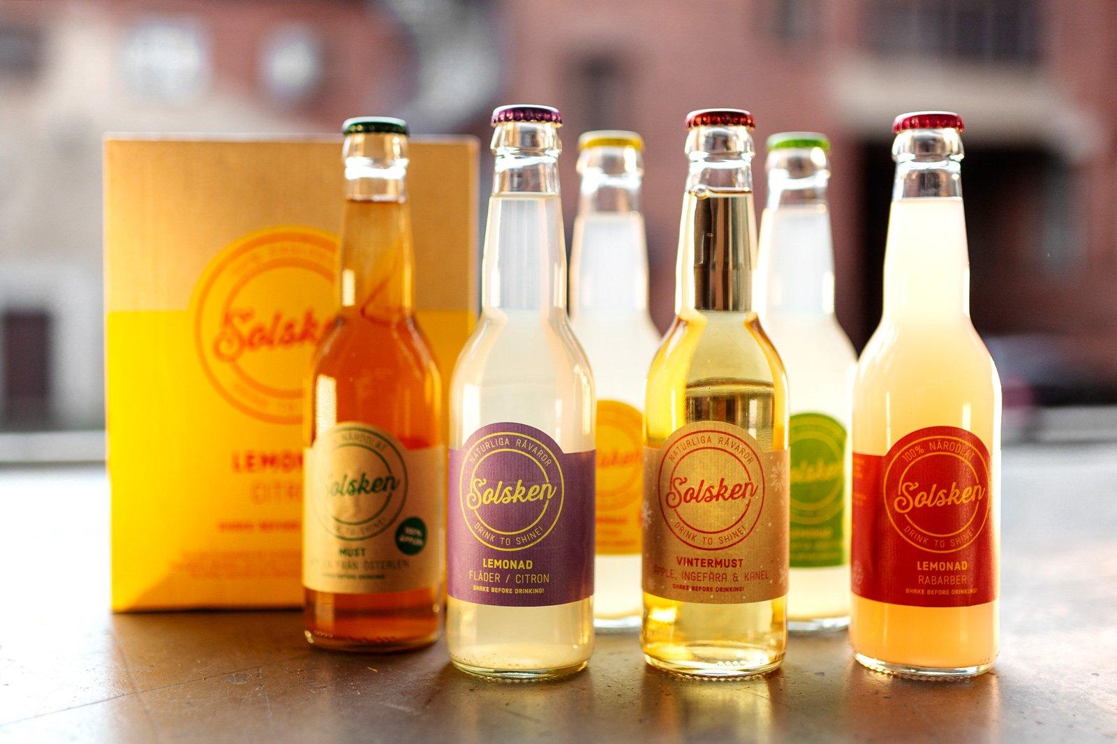 Solsken började som en idé för fem år sedan men har formligen exploderat – idag säljs lemonaden och musten ända upp till Norrland.