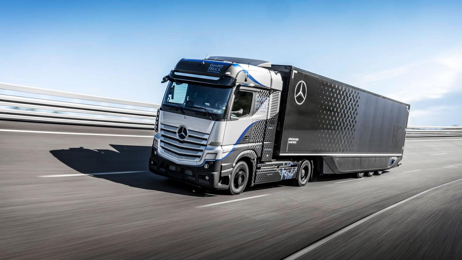 Mercedes-Benz har börjat testa bränslecellsdriven lastbil