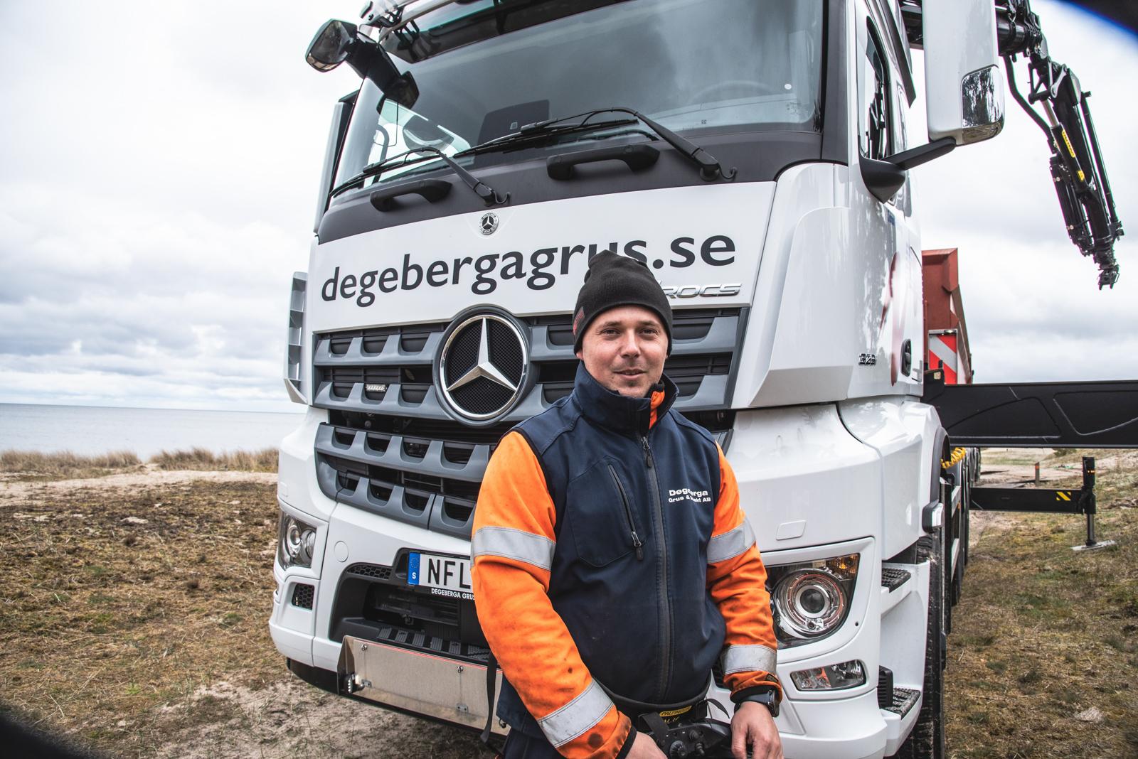 Johan Hellberg har kört kranbil i 10 år.