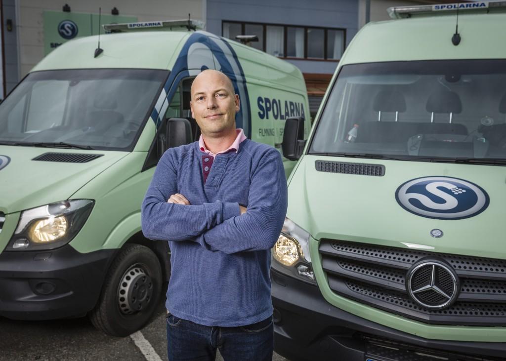 För 13 år sedan började Spolarna som ett litet hemmaföretaget. I dag är de störst i i södra Sverige inom spolbranschen i fastigheter och har kontor både i Skåne, Blekinge och Göteborg. Foto: Sven Persson.