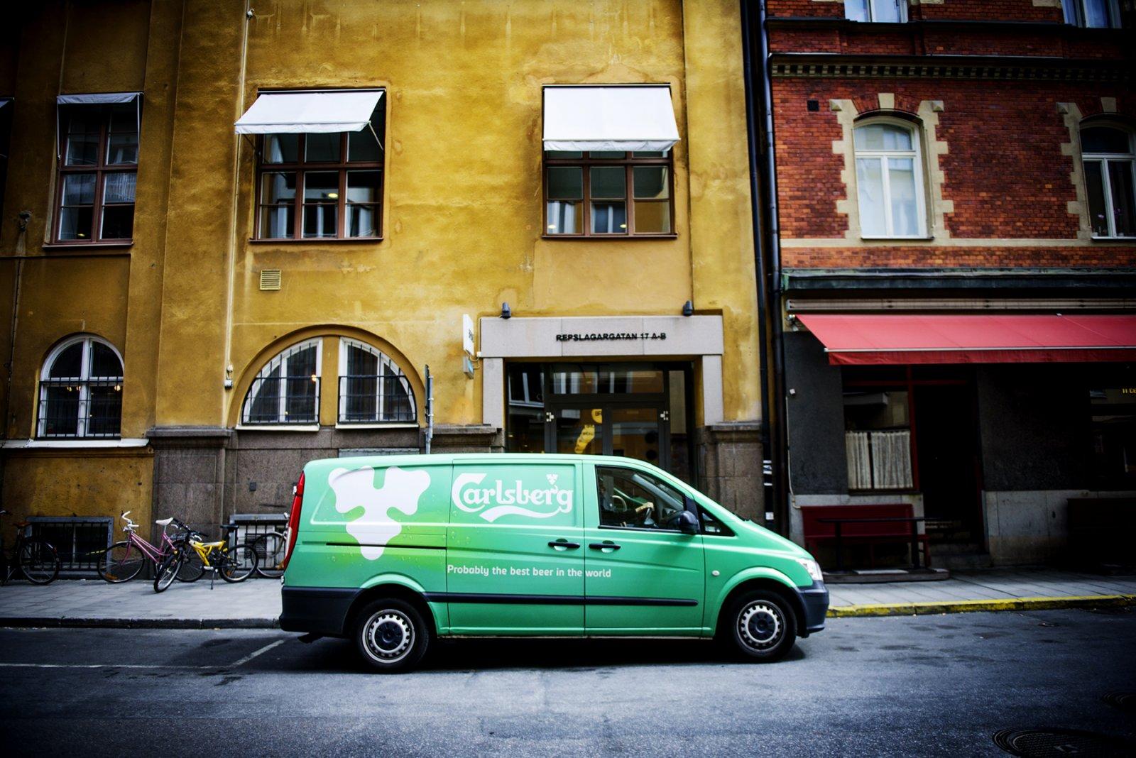 Eventbyrån Knut Kommunikation hyr transportbilar från Mercedes-Benz Stockholm för olika arrangemang.
