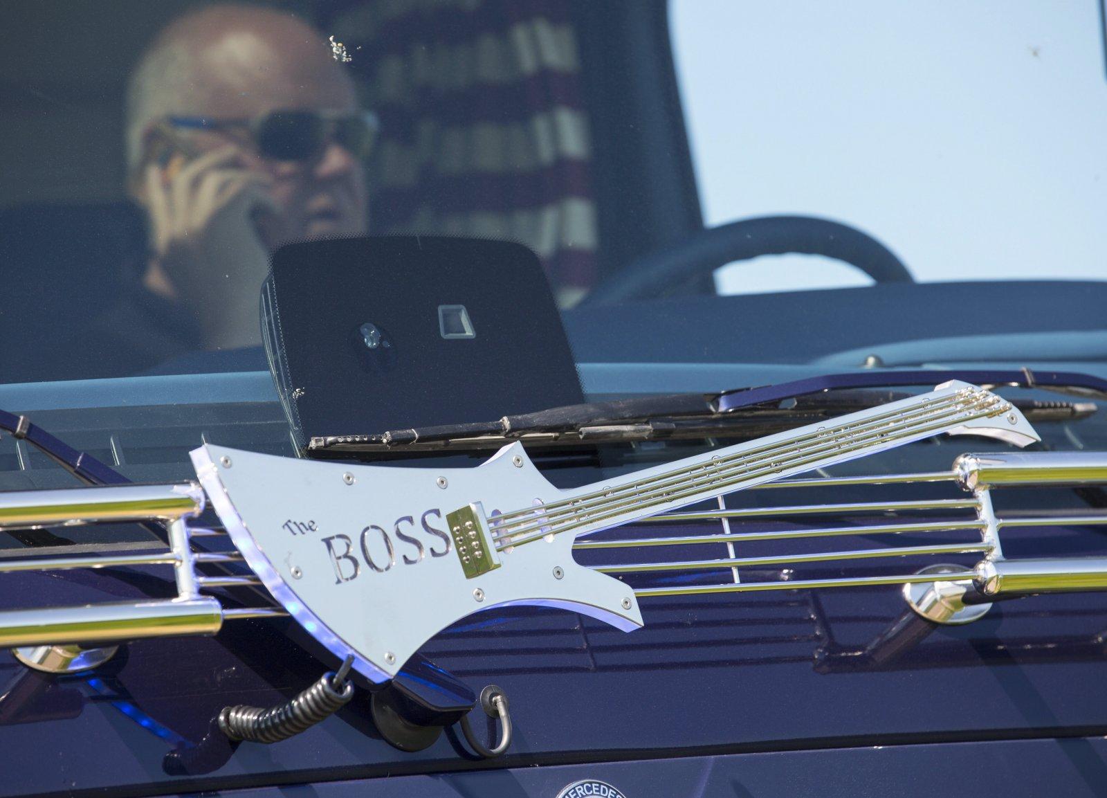 Ralph Ekdahls nya bygge. En Mercedes Actros med Bruce Springsteen motiv.