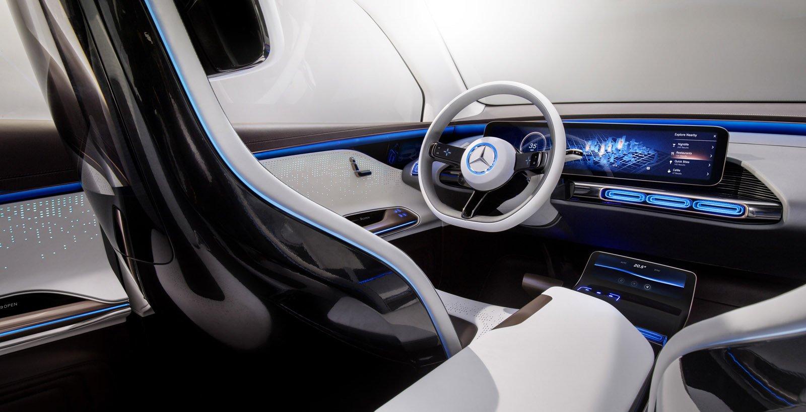 Generation EQ med en cockpit inspirerad interiör.