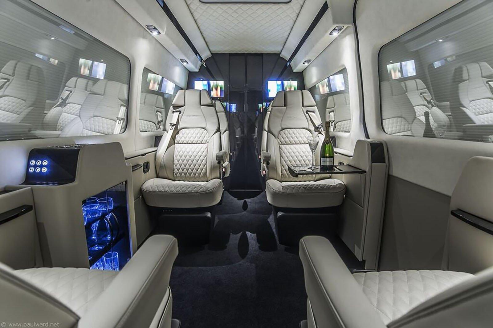 Invändig lyx i en Senzati Jet Sprinter.
