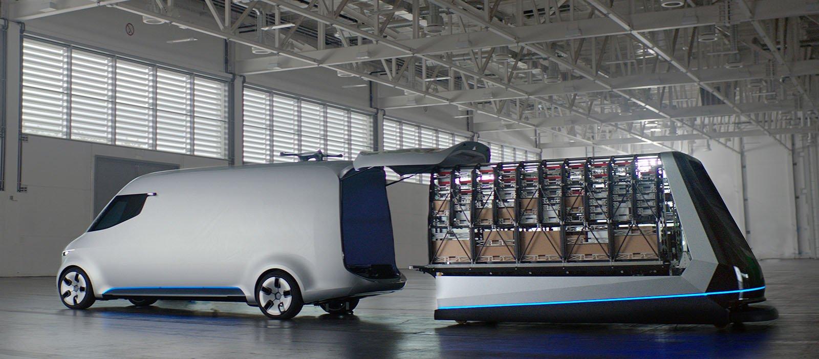 Vision Vans färdigpackade lastnings- och lossningssystem.