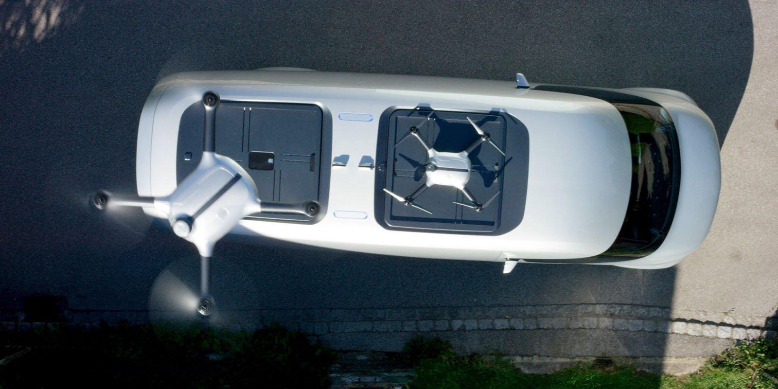 Mercedes-Benz Vision Van har två drönare på taket som kan leverera paket upp till 2 kg.