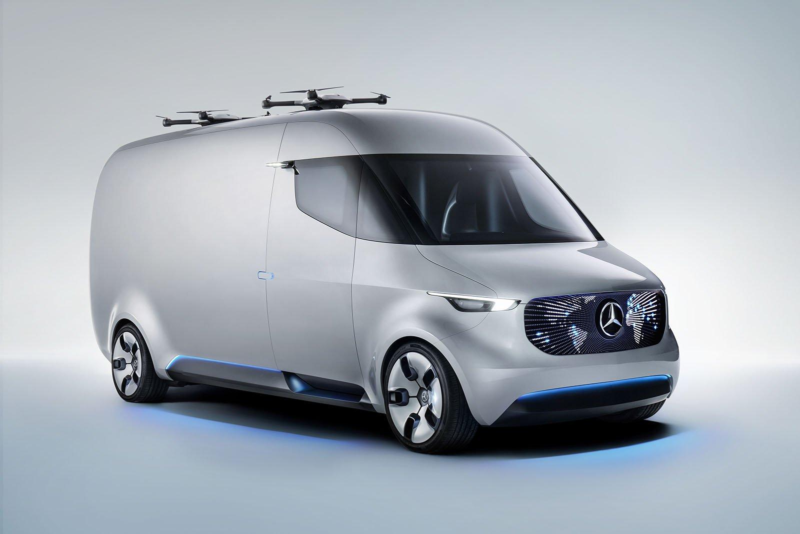 Mercedes-Benz Vision Van en kombination av futuristisk design och fantastisk funktionalitet.
