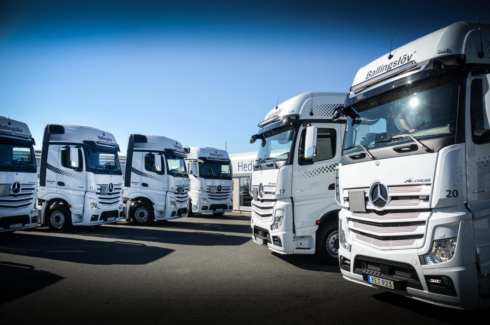 Ballingslöv beställde åtta nya Mercedes Actros