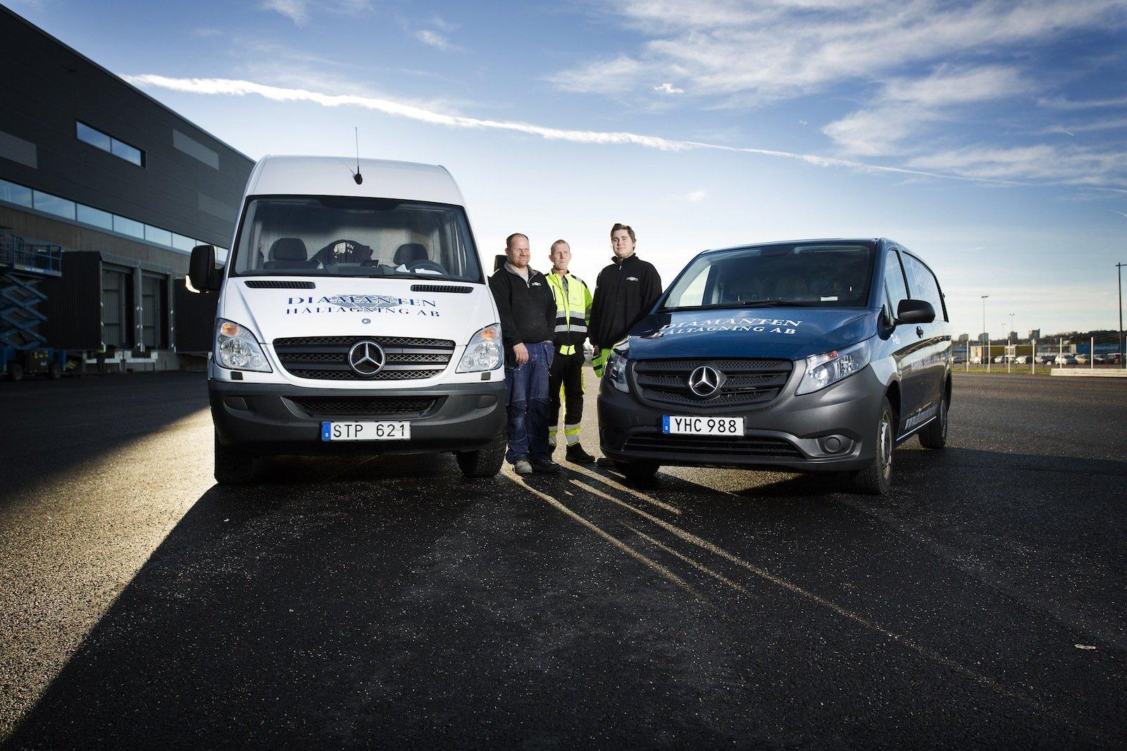 Tre av Diamanten AB:s anställda – Per-Åke Nilsson, Christer Johansson och Jan Magne Berger.