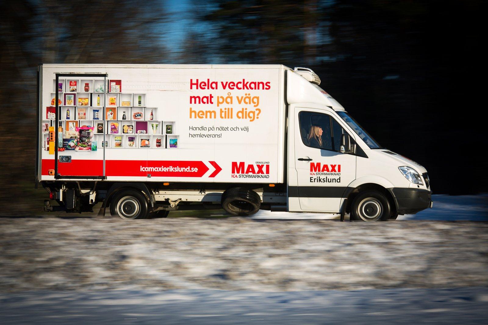 – Utkörningarna har ökat jättemycket, det är roligt att se hur vi kan påverka människors beteende, säger online-ansvarig Malin Siljebäck på ICA Maxi Erikslund i Västerås.