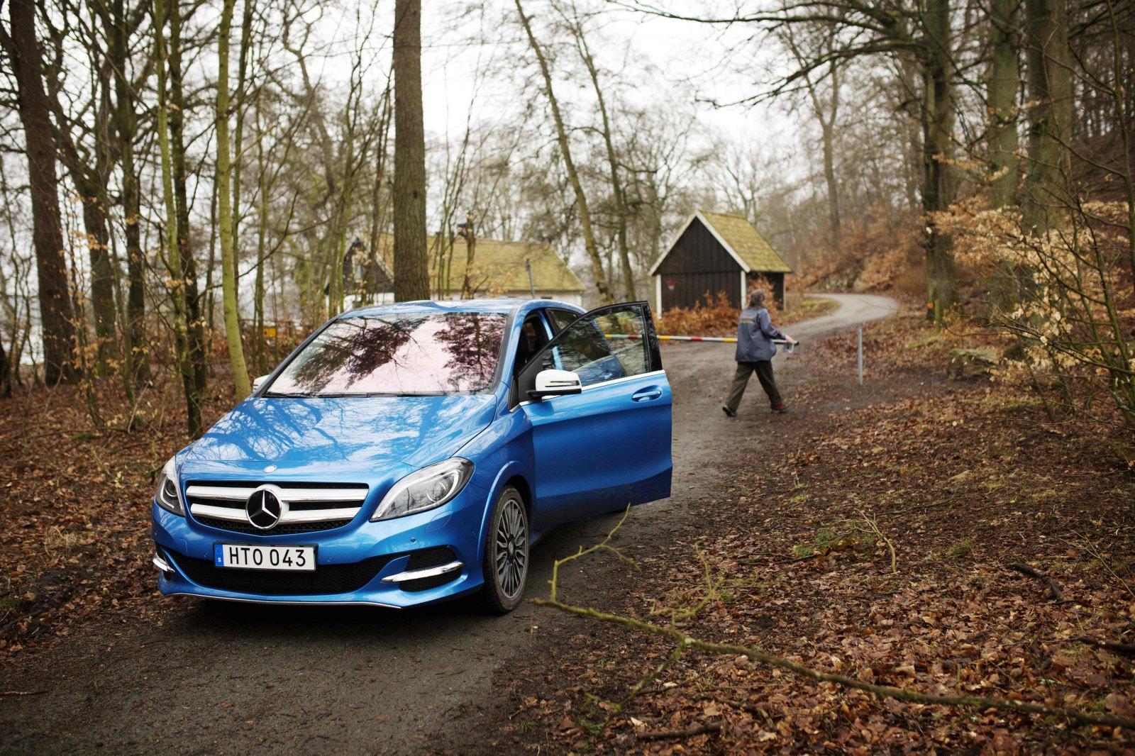Mercedes B-Klass Electric Drive, elbil, Harriet Andersson, Snogeholms strövområde Foto: Jenny Leyman