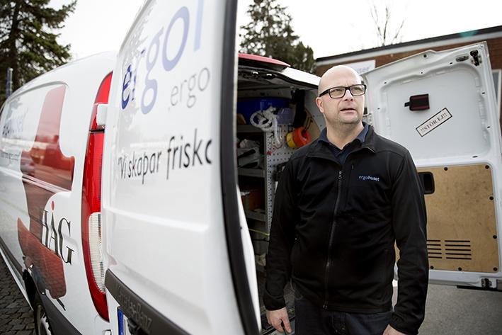 Ergohuset: Martin Johansson, tekniker.