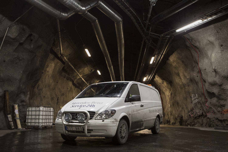 Det blir allt vanligare med Mercedes-Benz last- och transportbilar i gruvan.