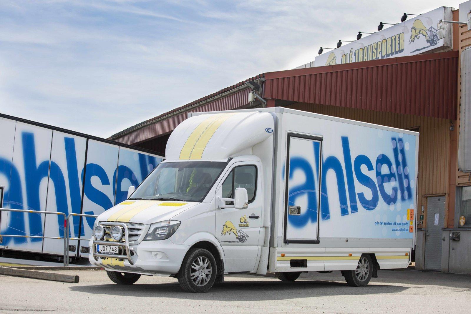 Olé Transporter kör Mercedes last- och transportbilar sedan 25 år.