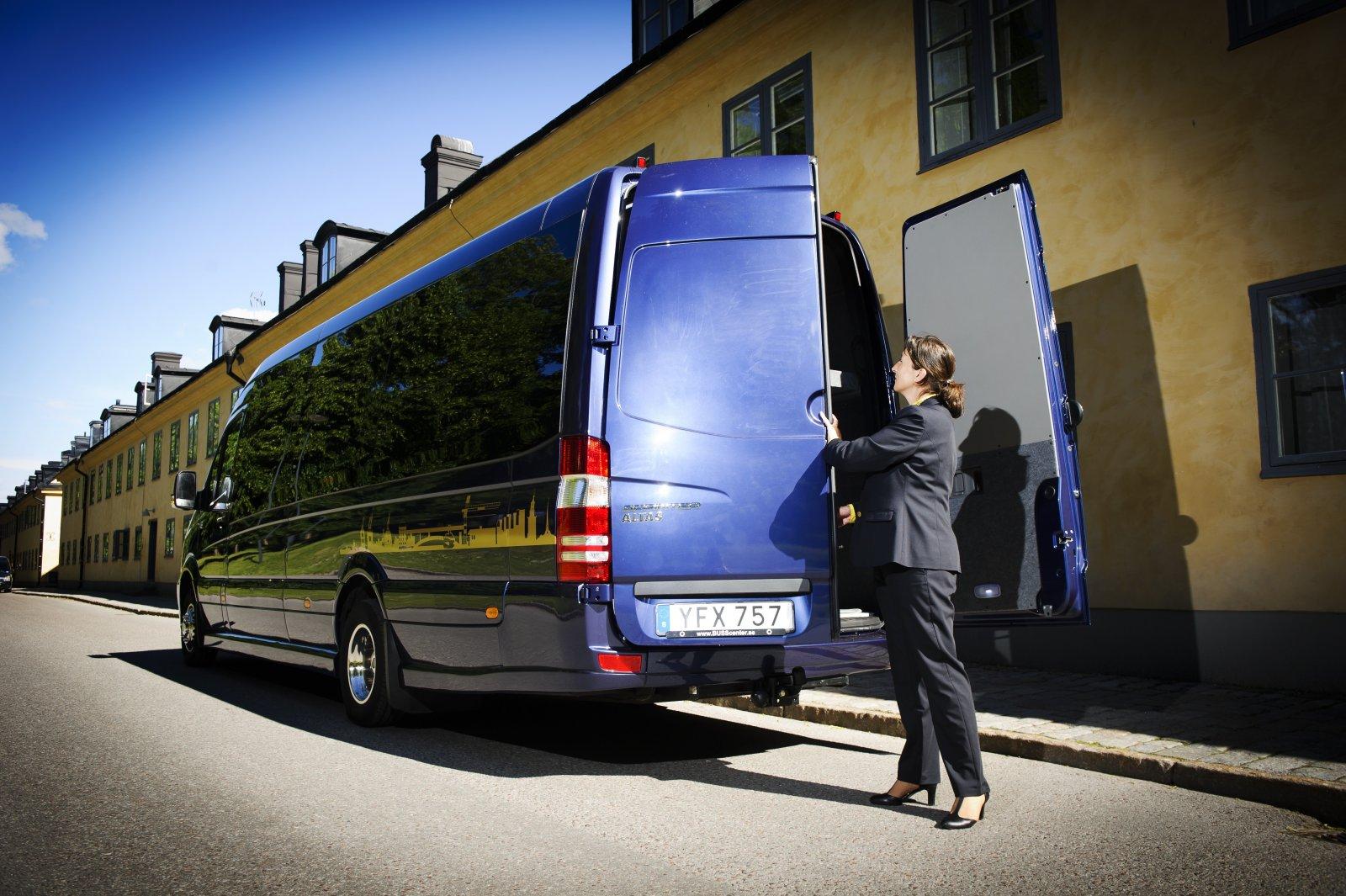 Traveller Buss Sprinterbuss med chaufför Erika Ferling FOTO: ANNIKA AF KLERCKER