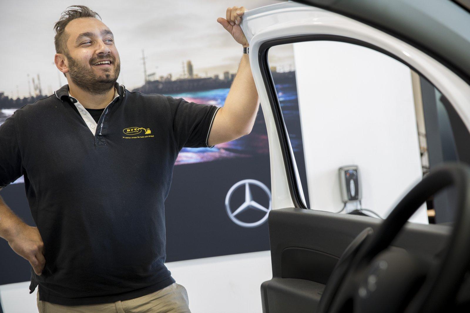 David Berglund var en av de allra första som köpte en ny Mercedes online.