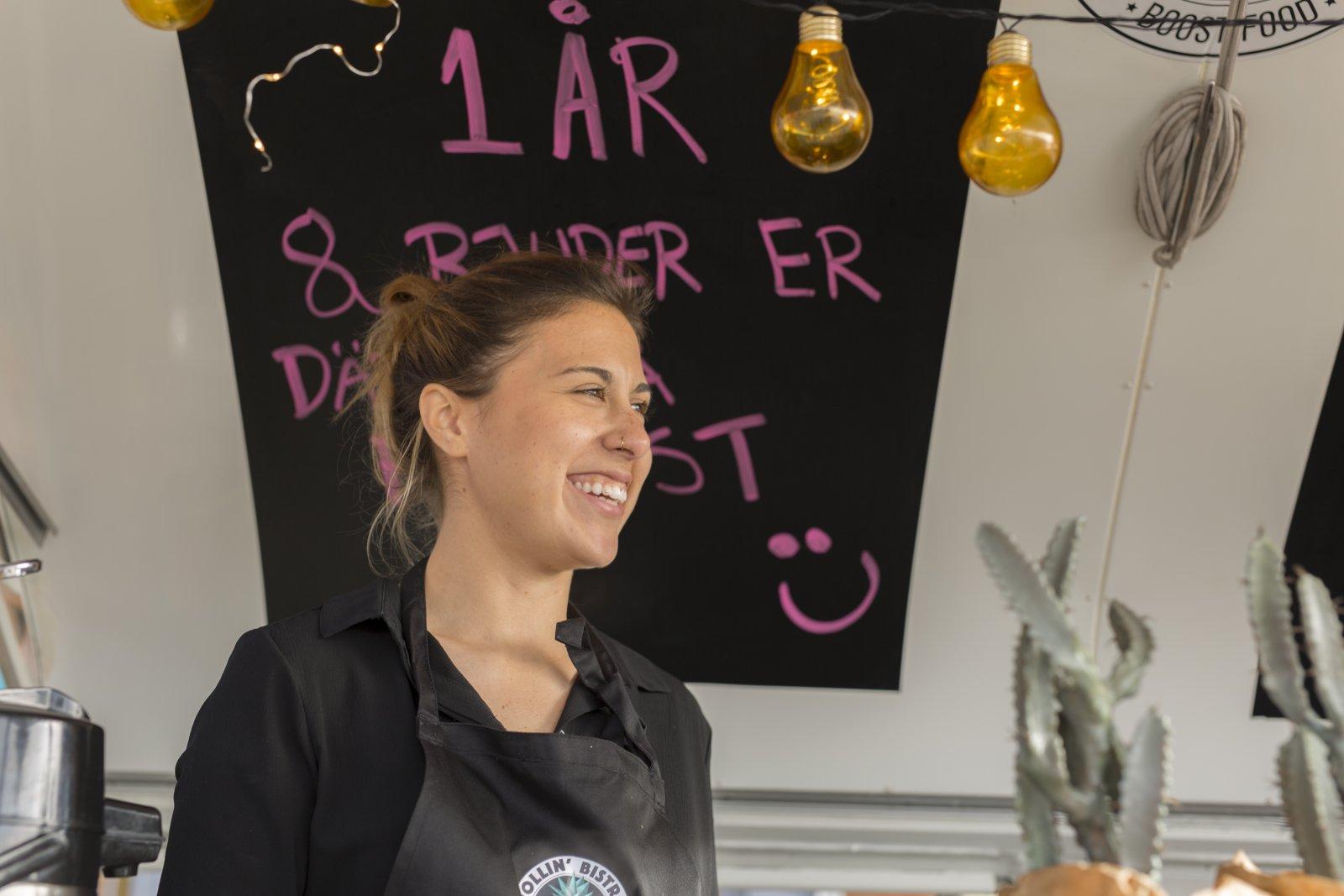 Restaurangen på Lindholmskajen fyllde nylien ett år. Foto: Therese Björkbacke