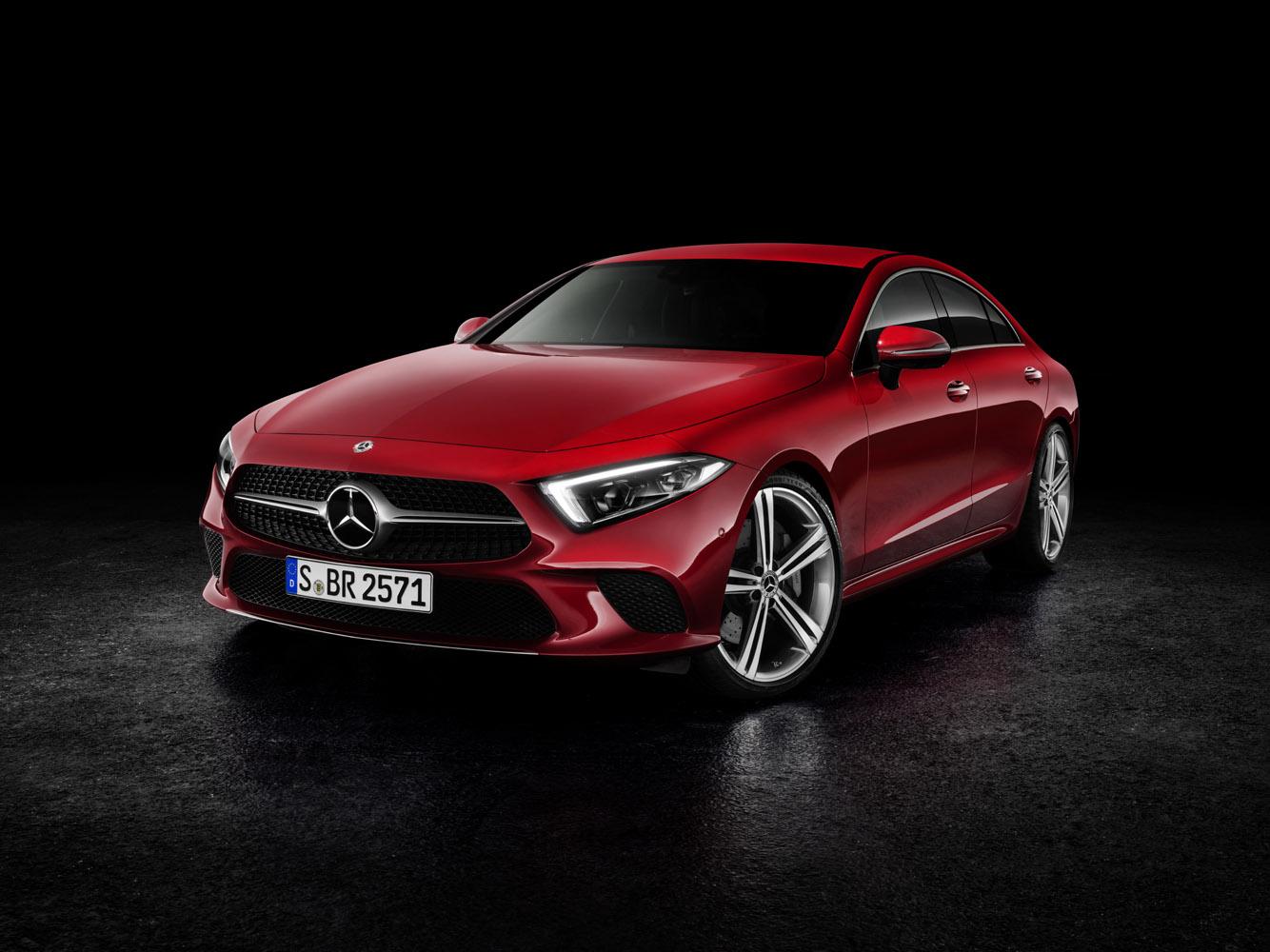 Mercedes-Benz CLS, 2017, hyacintröd metallic,