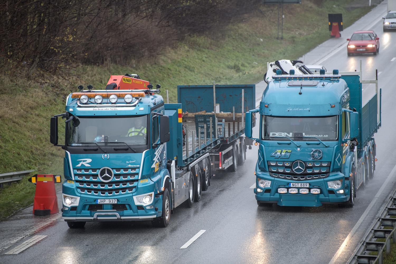 Det bästa, annars kan det vara är mottot som Daniel Nilsson och Rasmus Hansson har på sina lastbilar, fast på tyska. Das beste oder nichts.